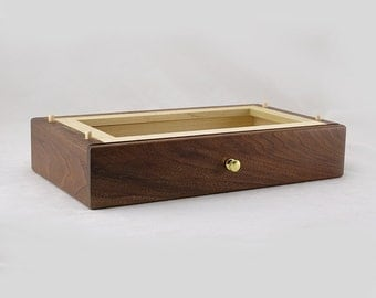 Modular Jewelry Box System - Walnut Deep Drawer