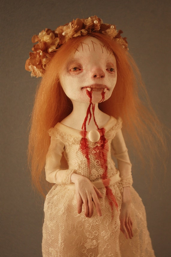 Elsbeth Vampire Maiden Art Doll by Kamila Mlynarczyk Woodedwoods