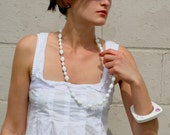 Vintage Miriam Haskell Milk glass Necklace (reworked)