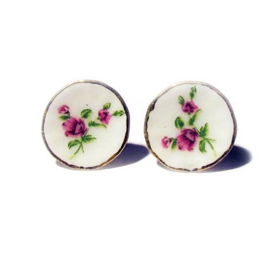 That Vintage - Tea Party Saucer Earrings - Sadie
