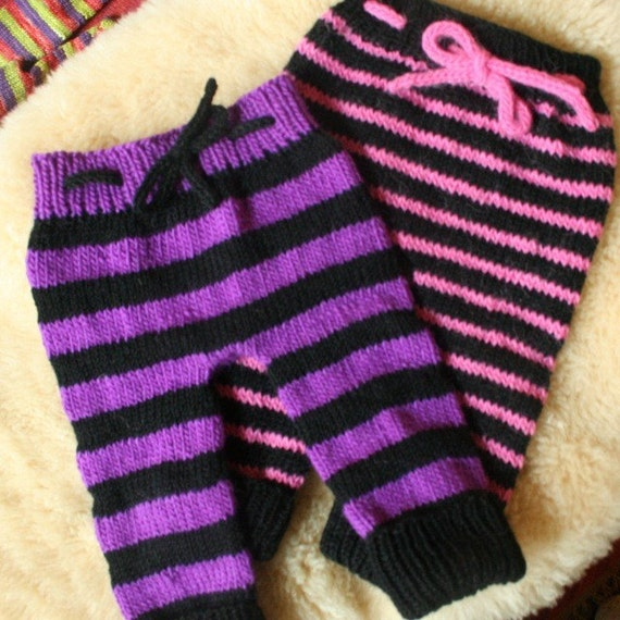 Two Pairs of Striped Woolies - RESERVED FOR MGLASS