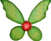 Lime Green Tinkerbell Fairy Wings with Swarovski Crystals