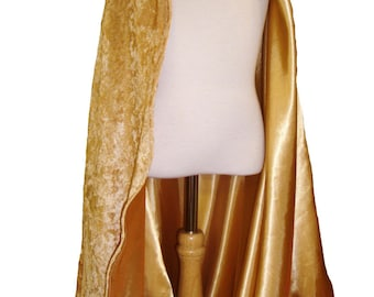 READY TO SHIP -   Gold Velvet and Satin Reversible Child's Play Cloak