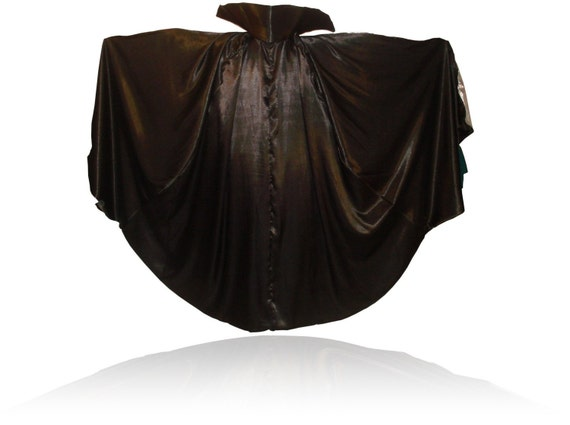 Satin Full Circle Vampire Cape with Stand-up Collar