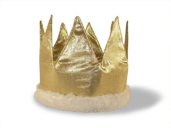 Custom Fabric Crown - You choose color and size - Perfect for birthdays, dress up or costumes