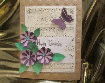 Pretty Purple Musical Happy Birthday