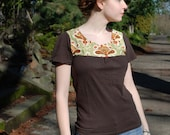 Brown with Yoke T-Shirt  S\/M