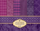 Victoria Digital Papers for scrapbooking, card making, Invites, photo cards, Vintage style