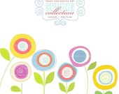 CLIP ART - Spring Blooms,  commercial and personal use (4)