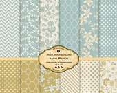 Printable Digital Papers for scrapbooking, card making, Invites, photo cards - Sash