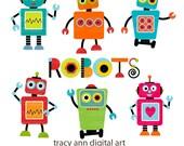Robot Clip Art Set 1