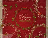 Christmas Frippery  Digital Elements for digital scrapbooking card making - SPECIAL PRICE