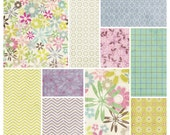 Fascinate Digital Papers Scrapbooking Sheets Shabby Chic Chevron Florals in Pretty Pink, Greens Mauves