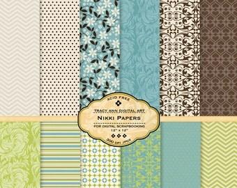 Nikki Digital Scrapbook  Paper Pack