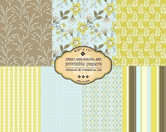 Printable Papers for scrapbooking crafting cardmaking  Set 27 commercial and personal use