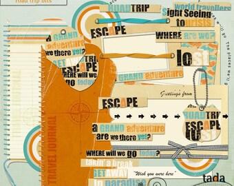 Road Trip Digital Scrapbook Kit