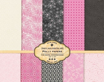 Digital Scrapbook Paper Set - Polly 1