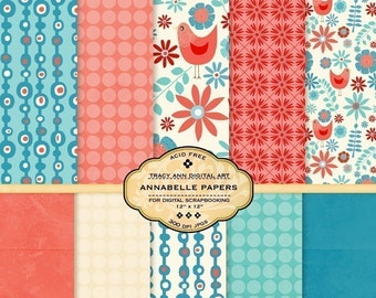 Annabelle Digital Papers for scrapbooking, card making, photographers, photo cards