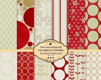 Celebrate Digital Paper Pack
