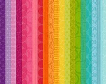 Rainbow Digital Mega Paper Pack for Invites, cards, scrapbooking - Brights