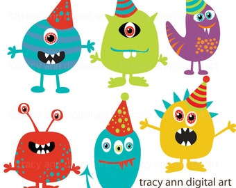 Monster Party Clipart