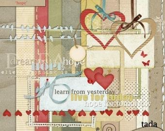 Hope Digital Scrapbooking Kit