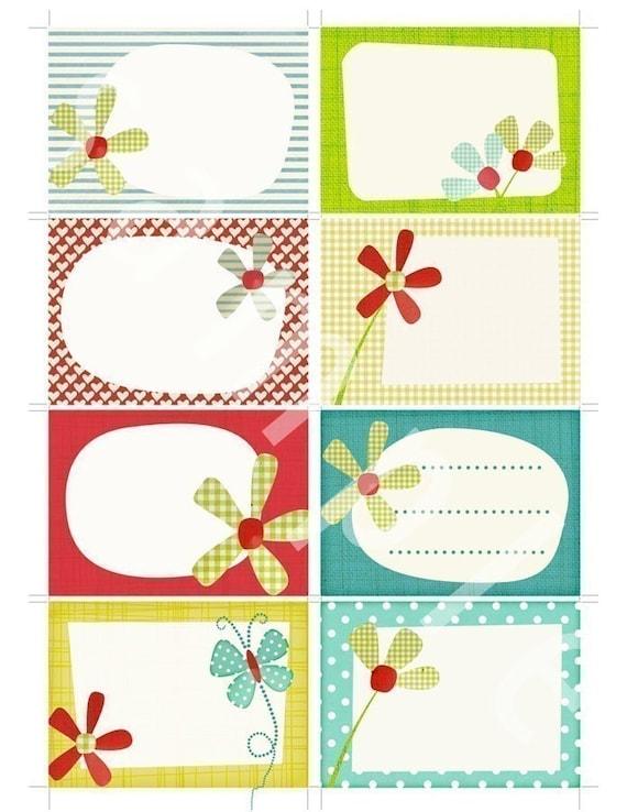 Printable scrapbook journal cards - make labels, tags and Scrapbook Journal cards.