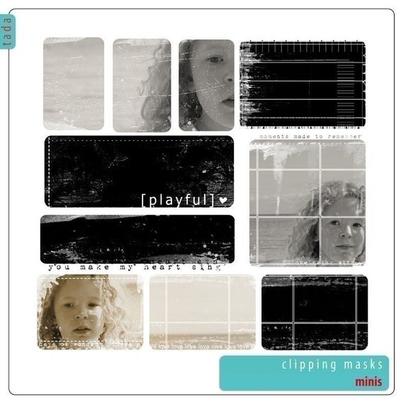 Clipping Masks for Photos, Photography resource -  Minis Set 11