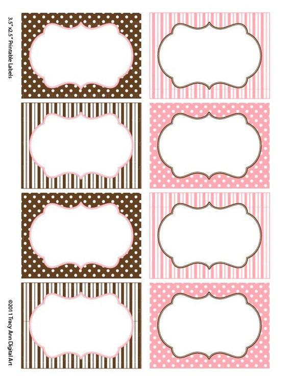 Super Articoli simili a Cioccolato e rosa stampare le vostre etichette  KP72