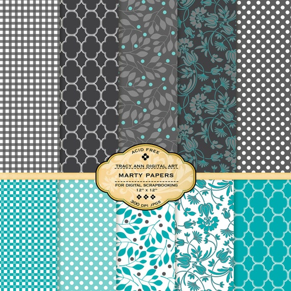 NEW  Marty Digital Papers for scrapbooking, card making, photographers, photo cards