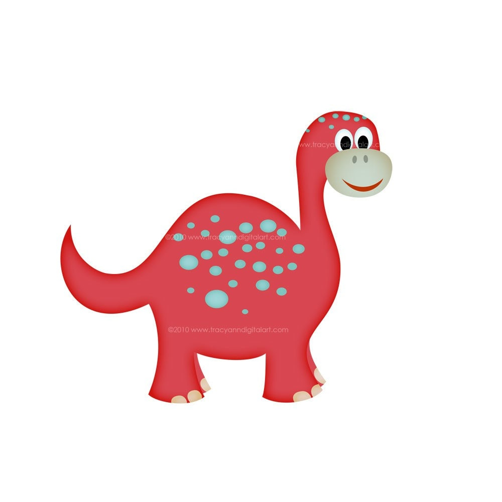 Dinosaur Clip art for commercial and by TracyAnnDigitalArt