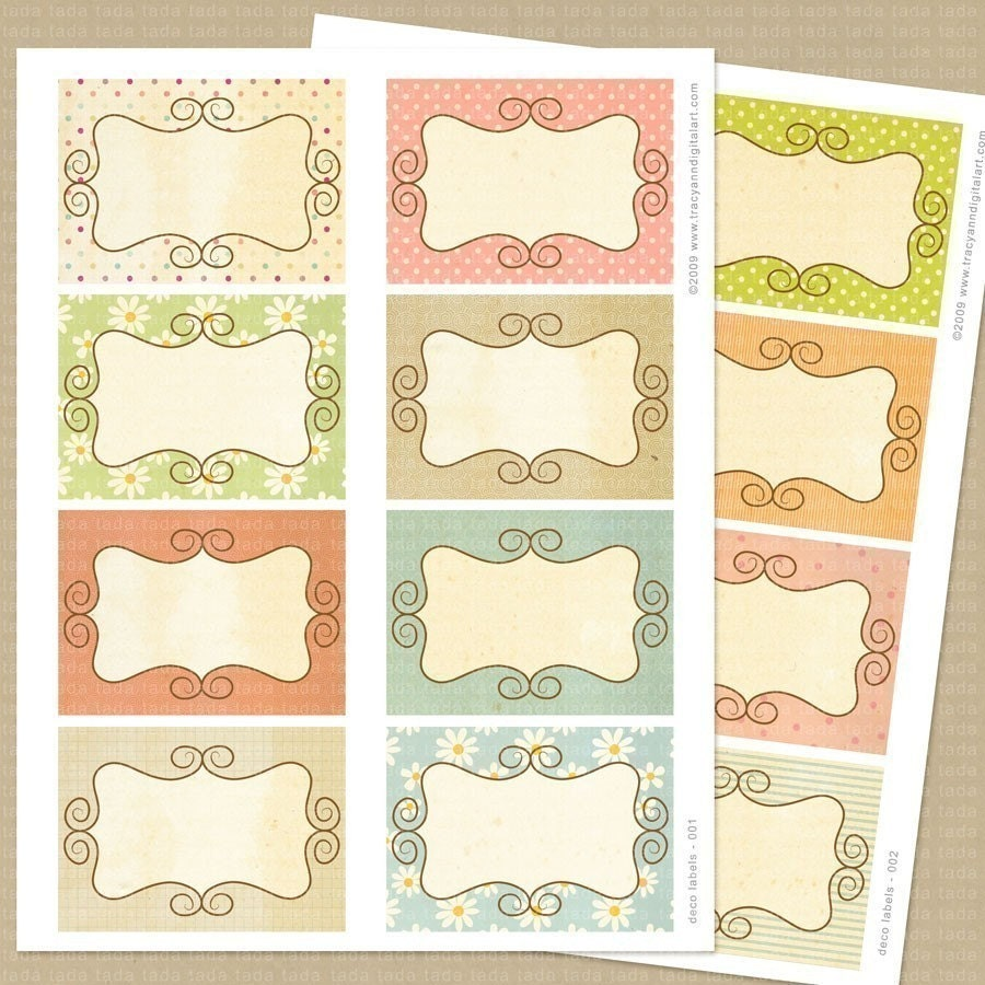 templates for scrapbooking to print - printable shabby scrapbook journal cards by tracyanndigitalart