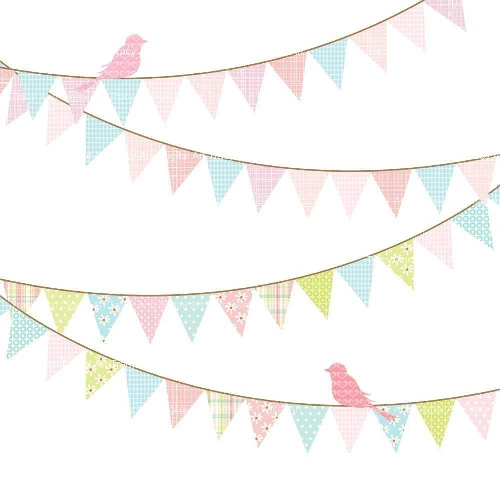 Birthday Banner Clip Art Commercial And By TracyAnnDigitalArt