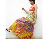 Floral India Cotton Patchwork Maxi Dress 10