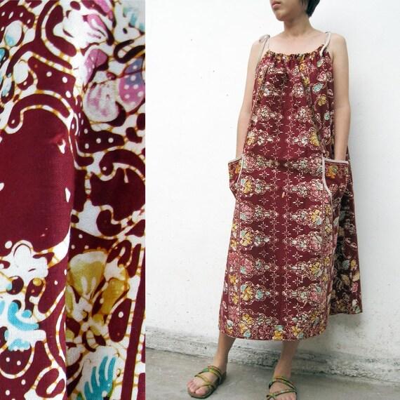 S-A-L-E 20 % off  Floral Batik Halter Maxi  Dress S M L