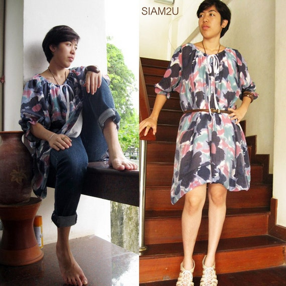 Sale 15 % off  Short Simply  Dress Blouse S - XL