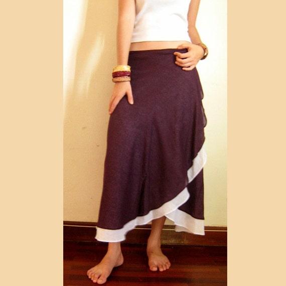 Wrap Skirt organic ramie fabric