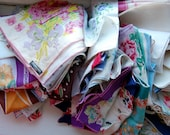 RESERVED mblom33 for 23 Hankies Handkerchiefs Pocket Squares Cutter Fabric Supplies