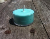 Sea Breeze Scent 4 Pack of Soy Tealights Teal Rustic