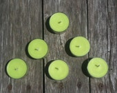 Green Apple Scent 6 Pack of Soy Tealights - SandyLandStudio