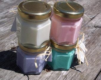 Soy Candle Sampler Set of 4 Mini Jars Choose your Scents