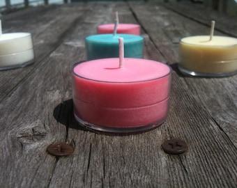 Sampler 6 Pack of Soy Tealights Choose your Scents