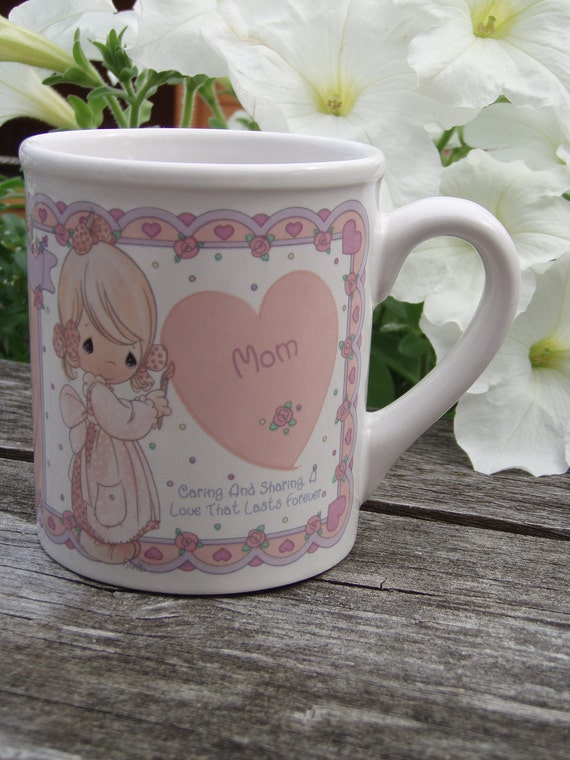 Custom Soy Candle in Precious Moments Mom Mug Choose Scent and Color