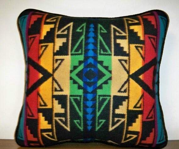 Colorful Pendleton Wool Pillow