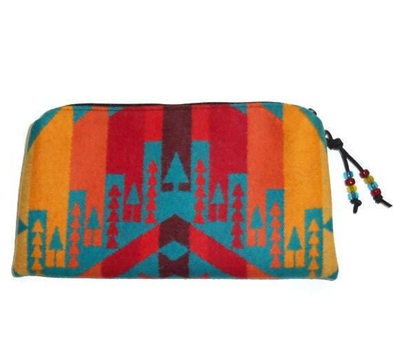 Clutch Bag Purse Pendleton Wool Southwestern Style