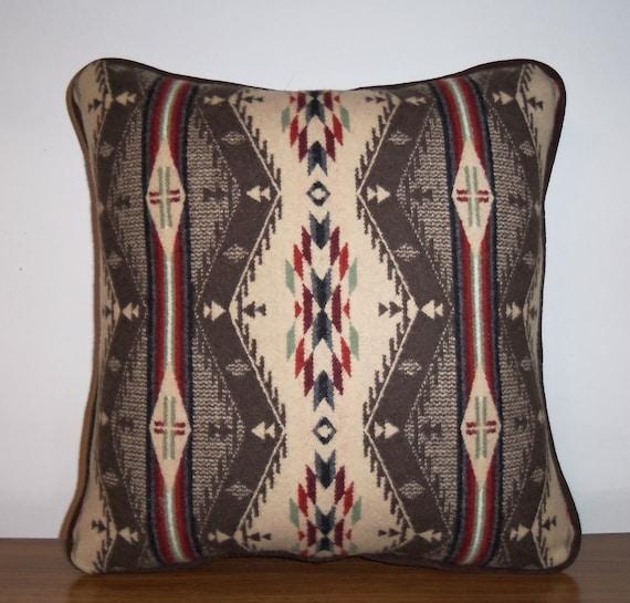 Wool Pillow Decorator Throw Lodge Spirit of the People Pendleton Fabric