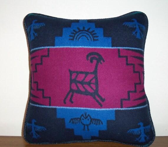 RESERVED  for JeNai Pendleton Wool Pillow Decorator Throw Lodge Rock Art