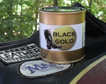 Two (2) Cans - Black Gold - Boot Grease Leathercare. Bootblack