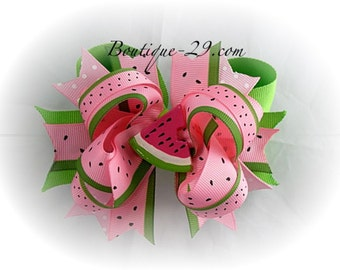 Sweet Watermelon Boutique Bow