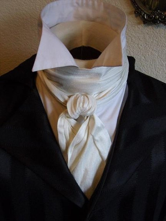 Items similar to REGENCY Tie Cravat Ascot IVORY Cream